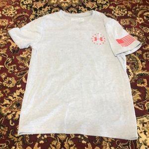 Gray Boys M Cotton Under Armour T-shirt